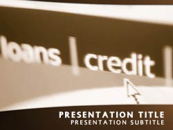 Credit Loans and Banking Title Master slide design
