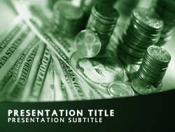 royalty free money powerpoint template in green, Modern powerpoint