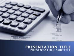 Royalty Free Accounting Powerpoint Template In Blue