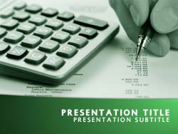 Free accounting powerpoint template in green accounting title master slide design toneelgroepblik Gallery