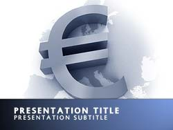 Royalty free euro crisis powerpoint template in blue euro crisis title master slide design toneelgroepblik Image collections