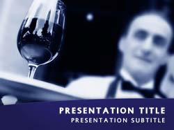 Waiter Serving Wine Title Master slide design