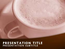Cappuccino Coffee Title Master slide design