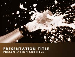 Champagne  Title Master slide design