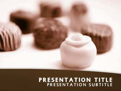 Royalty free chocolates powerpoint template in orange chocolates title master slide design toneelgroepblik Choice Image