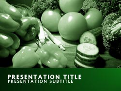 Nutrition Title Master slide design
