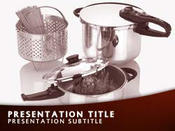 royalty free cooking powerpoint template in red, Modern powerpoint
