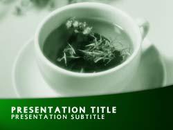 Royalty free herbal tea powerpoint template in green herbal tea title master slide design toneelgroepblik Images