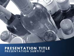 Royalty Free Alcohol PowerPoint Template in Blue