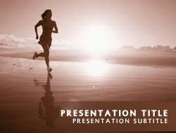 Royalty free jogging powerpoint template in orange jogging title master slide design toneelgroepblik Image collections