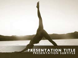 royalty free asanas powerpoint template in yellow, Presentation templates