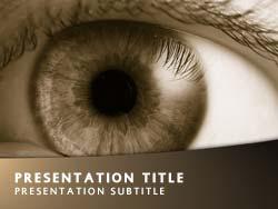 Royalty free eye powerpoint template in yellow eye title master slide design toneelgroepblik Gallery