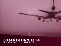 Commercial Airline Plane Title Master slide design