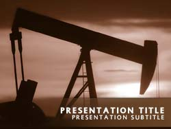 Royalty free oil rig powerpoint template in orange oil rig title master slide design toneelgroepblik Images