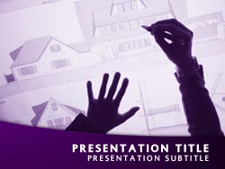 Royalty free architect powerpoint template in purple architect title master slide design toneelgroepblik Images