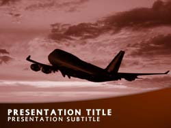 Royalty free flight powerpoint template in orange flight title master slide design toneelgroepblik Choice Image