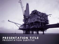Royalty free offshore oil powerpoint template in purple offshore oil title master slide design toneelgroepblik Gallery
