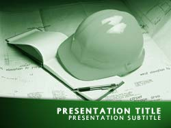 Royalty free construction powerpoint template in green construction title master slide design toneelgroepblik Choice Image