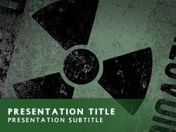Royalty free nuclear power powerpoint template in green nuclear power title master slide design toneelgroepblik Gallery