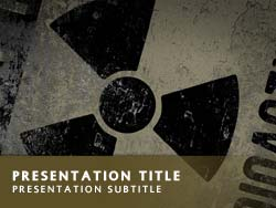 Royalty Free Nuclear Power PowerPoint Template in Yellow