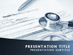 Health Insurance Title Master slide design