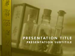 Royalty Free Chinese Herbal Medicine Powerpoint Template In