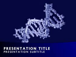 Royalty free dna double helix powerpoint template in blue dna double helix title master slide design toneelgroepblik Image collections