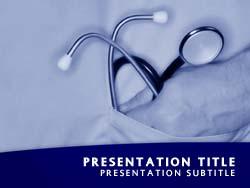 Royalty free doctor stethoscope powerpoint template in blue doctor stethoscope title master slide design toneelgroepblik Images