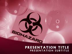 royalty free biohazard powerpoint template in red. Black Bedroom Furniture Sets. Home Design Ideas