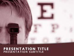 Royalty free eye test powerpoint template in red eye test title master slide design toneelgroepblik Gallery