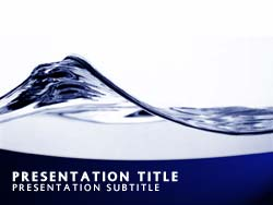 Royalty free abstract water wave powerpoint template in blue abstract water wave title master slide design toneelgroepblik Images