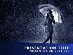 Royalty free rain powerpoint template in blue rain title master slide design toneelgroepblik Choice Image