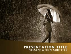 Rain Title Master slide design