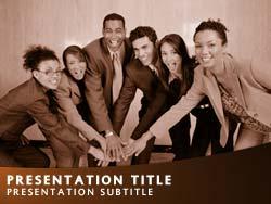 Royalty free teamwork powerpoint template in orange teamwork title master slide design toneelgroepblik Images