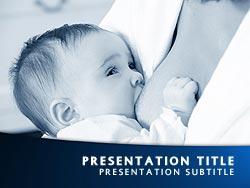 Royalty free breastfeeding powerpoint template in blue breastfeeding title master slide design toneelgroepblik Images
