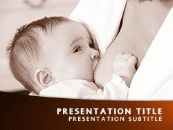 Royalty Free Breastfeeding Powerpoint Template In Orange