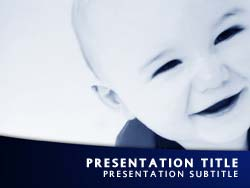 royalty free baby toddler powerpoint template in blue, Modern powerpoint