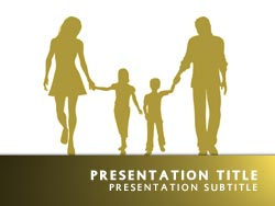royalty free family powerpoint template in yellow, Powerpoint