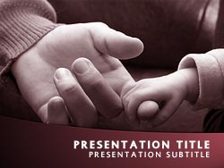 Baby Holding Finger Title Master slide design