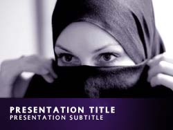 royalty free muslim powerpoint template in purple, Modern powerpoint