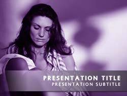 Royalty free domestic violence powerpoint template in purple domestic violence title master slide design toneelgroepblik Choice Image
