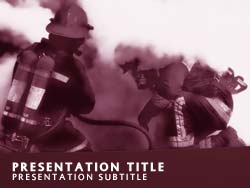 Firefighters Title Master slide design
