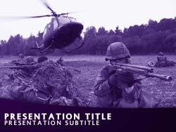 Royalty free military soldiers powerpoint template in purple military soldiers title master slide design toneelgroepblik Gallery