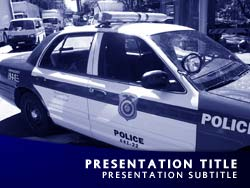 Royalty free police powerpoint template in blue police title master slide design toneelgroepblik Choice Image