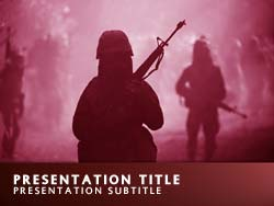 Royalty free military force powerpoint template in red military force title master slide design toneelgroepblik Image collections