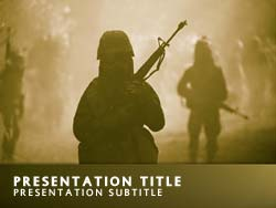 Royalty free military force powerpoint template in yellow military force title master slide design toneelgroepblik Gallery