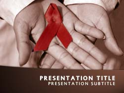 Royalty free hiv aids powerpoint template in orange hiv aids title master slide design toneelgroepblik Images