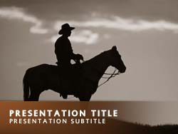 Royalty free cowboy powerpoint template in orange cowboy title master slide design toneelgroepblik Image collections