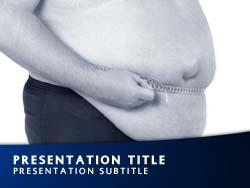 Royalty free obesity powerpoint template in blue obesity title master slide design toneelgroepblik Choice Image
