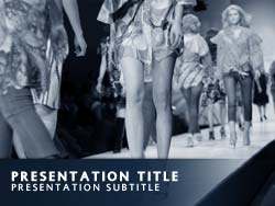 Royalty free fashion powerpoint template in blue fashion title master slide design toneelgroepblik Images